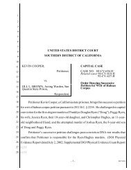 Order Denying Successive Petition for Writ of Habeas - Southern ...