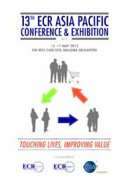 17 May 2012 Touching Lives, Improving Value - ECR Community