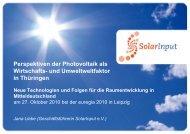 Perspektiven der Photovoltaik als Wirtschafts- und ... - ARL