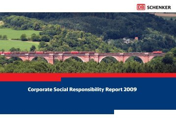 DB Schenker's Corporate Social Responsibility Report 2009