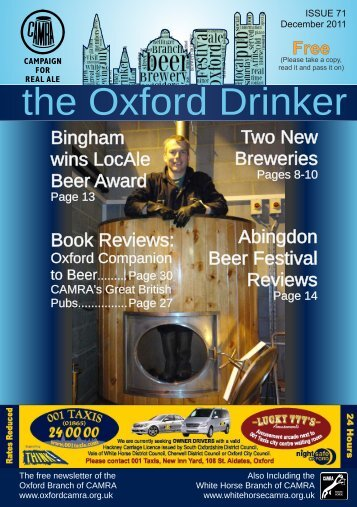 Issue 71, Dec 2011/Jan 2012 - Oxford CAMRA