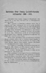 Berättelse öfver Finska värksamhet 1899—1900. - Doria