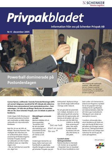 Powerball dominerade på Postorderdagen - Schenker