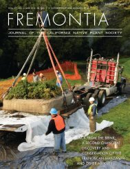 86715-Fremontia Cover - California Native Plant Society
