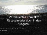 Verbrauchtes Formalin: Recyceln oder doch in den Ausguss?