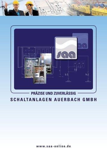 Flyer SAA Schaltanlagen Auerbach GmbH