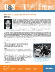 The State of Gettysburg Athletics 2005-06 - Gettysburg College