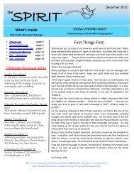 December 2012 Spirit Newsletter - Salem Lutheran Church ...