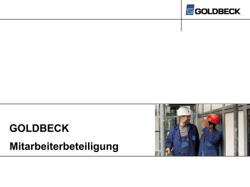 Goldbeck Mitarbeiterbeteiligung - AGP