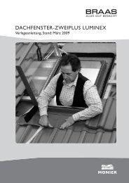 DACHFENSTER-ZWEIPLUS LUMINEX - Braas