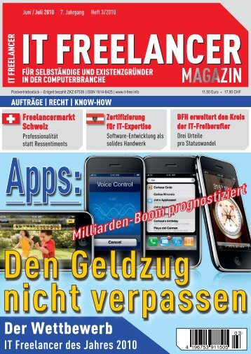 Juli 2010 - IT Freelancer Magazin