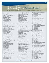 Physician Donors! - PeaceHealth Southwest Medical Center