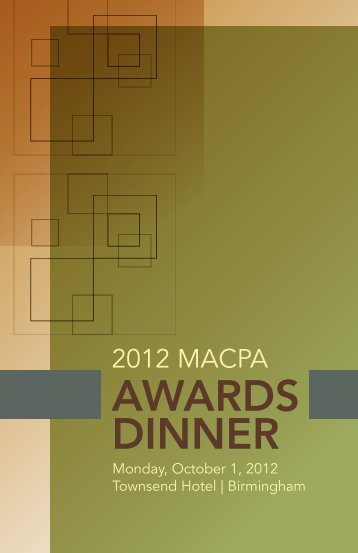 awards dinner - Michigan Association of Certified Public Accountants