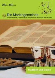 Die Mariengemeinde - Ev. Marienkirche in Frankfurt-Seckbach
