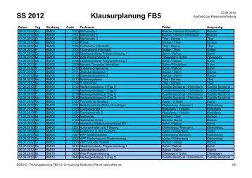 SS2012_ Prüfungsplanung FB5 v2.12 Aushang Studenten ... - FH D
