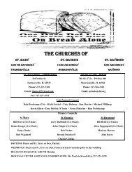 THE CHURCHES OF - E-churchbulletins.com