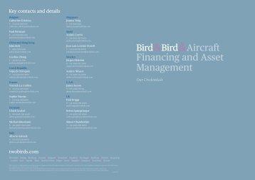 Aircraft Financing and Asset Management - Bird & Bird