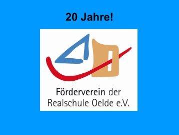 20 Jahre Förderverein - Städtischen Realschule Oelde