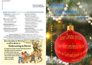 Dezember 2009 / Januar 2010 - Evangelisch-reformierte ...