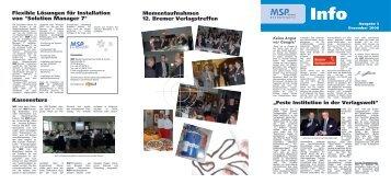 MSP Info Nr. 3 - Ausgabe Dezember 2008 (pdf - MSP Medien ...
