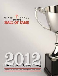 Induction Ceremony - Grand Rapids Sports Hall of Fame