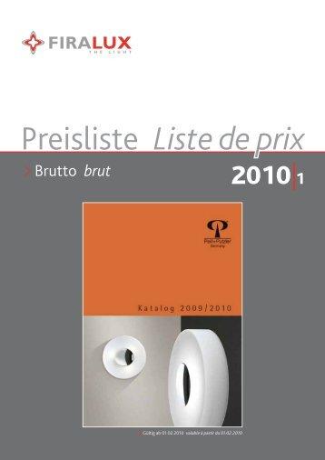 Preisliste Liste de prix - Firalux
