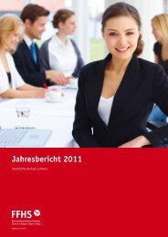 Jahresbericht 2011 - Fernfachhochschule Schweiz