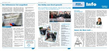 MSP Info Nr. 4 - Ausgabe Juni 2009 (pdf - MSP Medien Systempartner