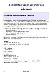 Selbsthilfegruppen Lebenskreise - Landratsamt Bad Tölz ...