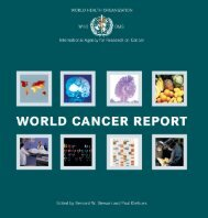 world cancer report - iarc