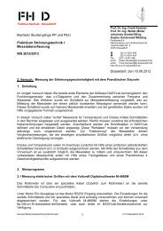 1 Bachelor Studiengänge PP und PEU Praktikum Strömungstechnik ...