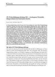 7. IW-Weiterbildungserhebung - Institut der deutschen Wirtschaft Köln