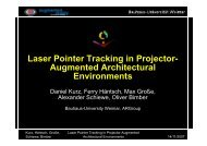 L P i t T ki i P j t Laser Pointer Tracking in Projector ... - Daniel Kurz