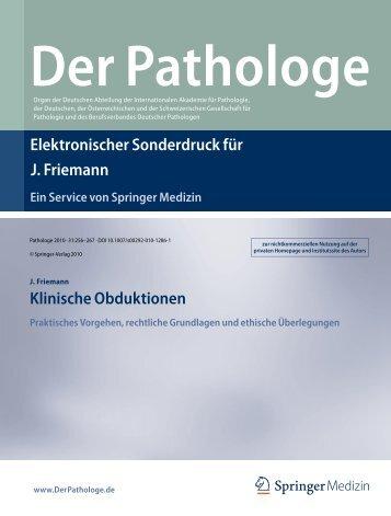 Friedmann Obduktion - Pathologie