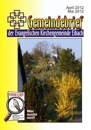 der Evangelischen Kirchengemeinde Eibach - Eibach — mein Dorf