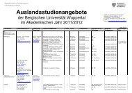 zuständigen AnsprechpartnerInnen im Fachbereich - Akademischen ...