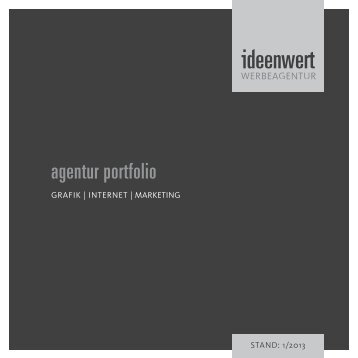 agentur portfolio - Werbeagentur ideenwert