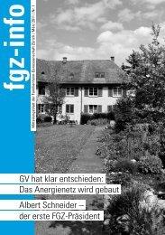 der erste Fgz-Präsident - Familienheim-Genossenschaft Zürich