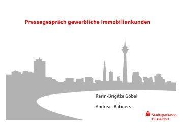 Pressegespräch gewerblich Immobilien - Stadtsparkasse Düsseldorf