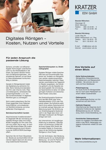 Prospekt herunterladen (pdf, Größe ca. 442 kB) - Kratzer EDV GmbH