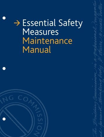 essential safety measures maintenance manual building rh yumpu com Safety Training Safety Training