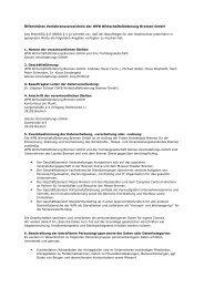 Öffentliches Verfahrensverzeichnis der WFB ... - Musikfest Bremen