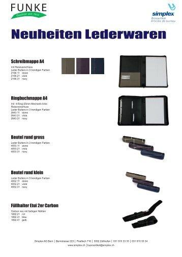 Neuheiten-Flyer FUNKE Lederwaren 2012
