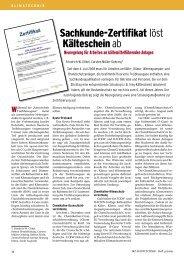 Sachkunde-Zertifikat löst Kälteschein ab - Innung für Sanitär ...