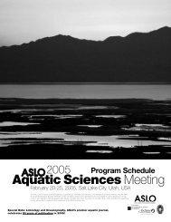2005 Program Schedule with Author Index - ASLO