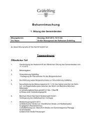 Bekanntmachung - Gemeinde Gräfelfing