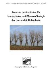 Berichte des Institutes für Landschafts- und Pflanzenökologie der ...