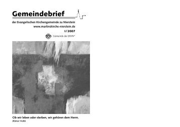 Ansehen - Evangelische Kirchengemeinde Nierstein