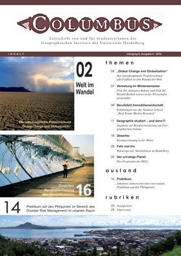 Welt im Wandel - Geographisches Institut Uni Heidelberg