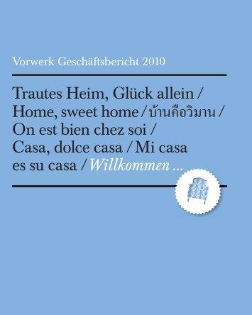 Trautes Heim, Glück allein / Home, sweet home / / On est ... - Vorwerk